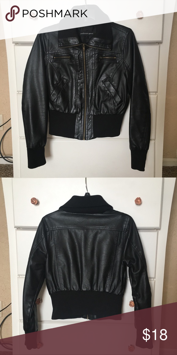 1c124a194 Leather Jacket Bomber type jacket with lots of pockets! Ambiance ...