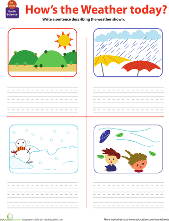 Write About the Weather | Weather, Worksheets and School