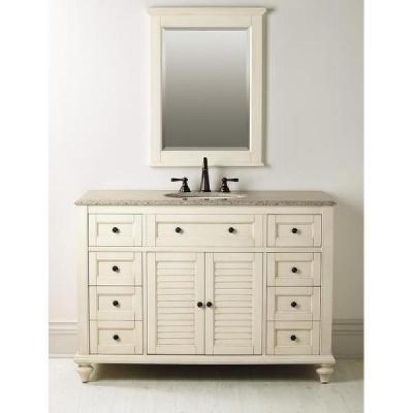 Home decorators collection hamilton 49 5 in w x 22 in d shutter bath vanity