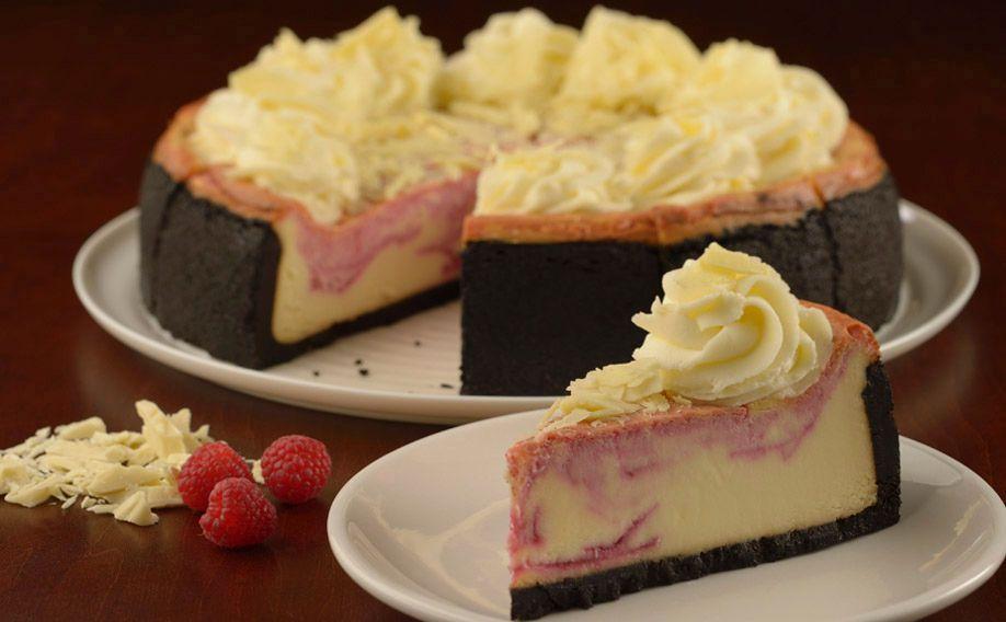 mmmmmmmm.....White Chocolate Raspberry Cheesecake from