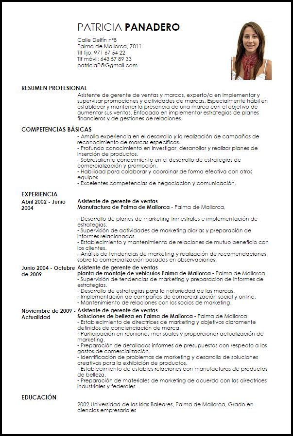 Curriculum Vitae Jefe De Ventas Modelos De Curriculum Vitae Curriculum Ejemplo Y Ventas