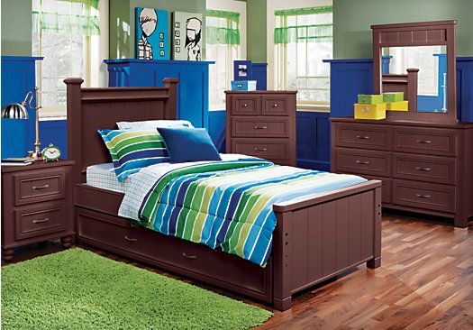 Shop For A Cottage Colors Espresso 5 Pc Full Panel Bedroom At