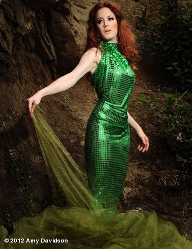Gorgeous Amy Davidson in a stunning dress for bridget marie