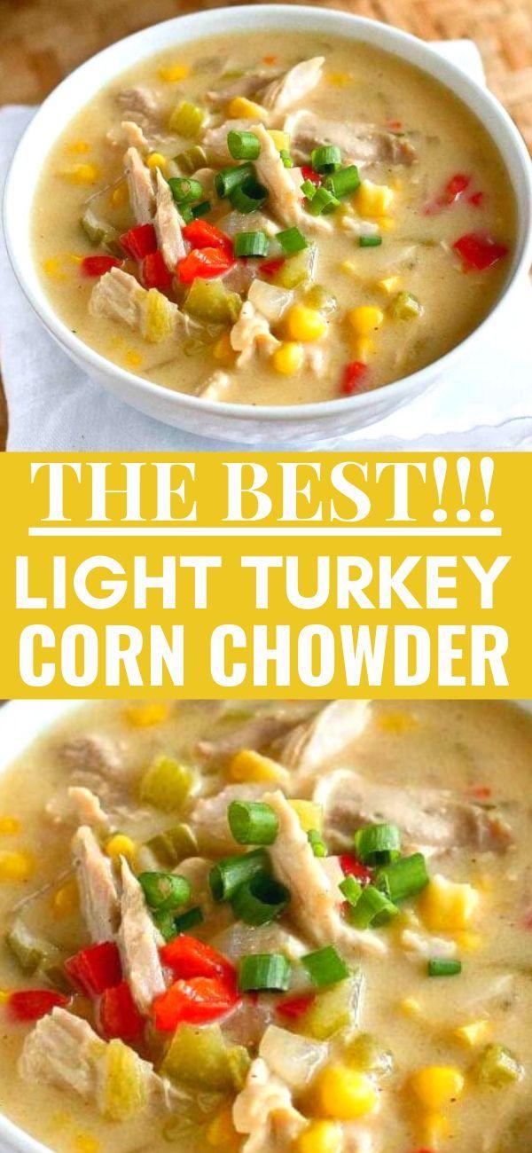 Light Turkey (or Chicken) Corn Chowder Recipe   Cookin' Canuck