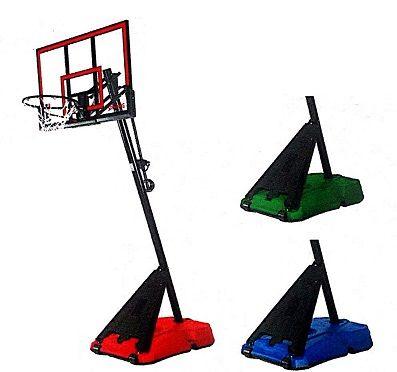 Spalding Hercules 52 Acrylic Portable Basketball Hoop Colored Base Basketball Hoop Basketball Pole Portable Basketball Hoop