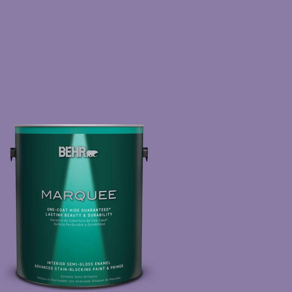 BEHR MARQUEE 1 gal. #M560-5 Second Pour One-Coat Hide Interior Semi-Gloss Enamel Paint
