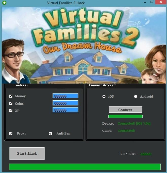 Image result for virtual-families-2-hack-coins-money-cheats