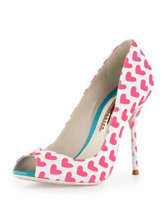 a655046bf2e6 Sophia Webster Peron Hearts Peep-Toe Pump