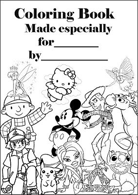 Make your own colouring book. Print a oad of colouring