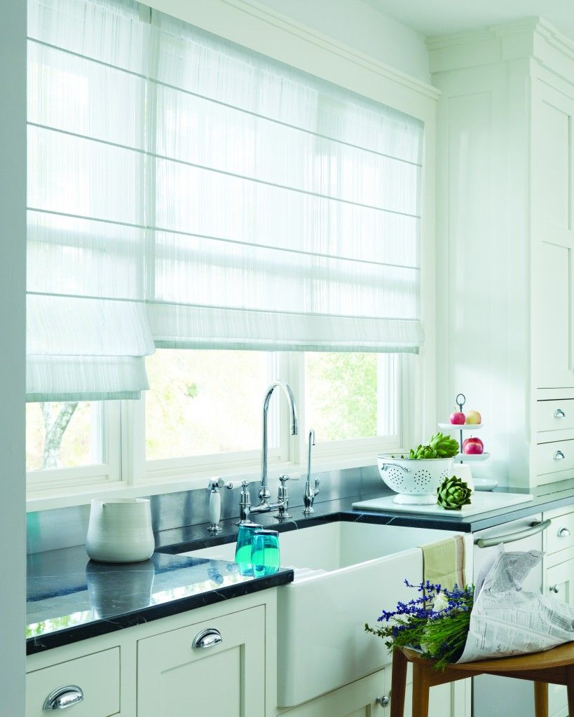 Modern Kitchen Blinds window blinds toronto - vignette® modern roman blinds toronto