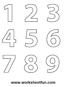 Free Printable Worksheets: Number (1-9) Coloring Worksheet