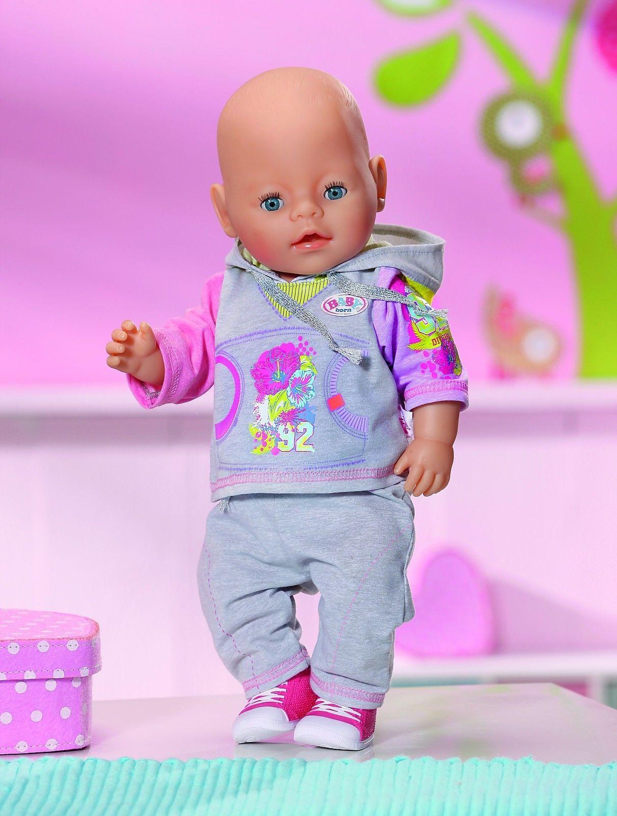 Zapf Creation Baby Born Deluxe Joggin Set 821053 Grau Spielzeug Brandtoys Ebay Baby Geboren Zapf Creation Baby
