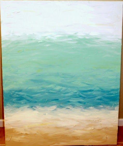 DIY Abstract Ocean Paintings Anyone Can Make   Coastal Decorating ...