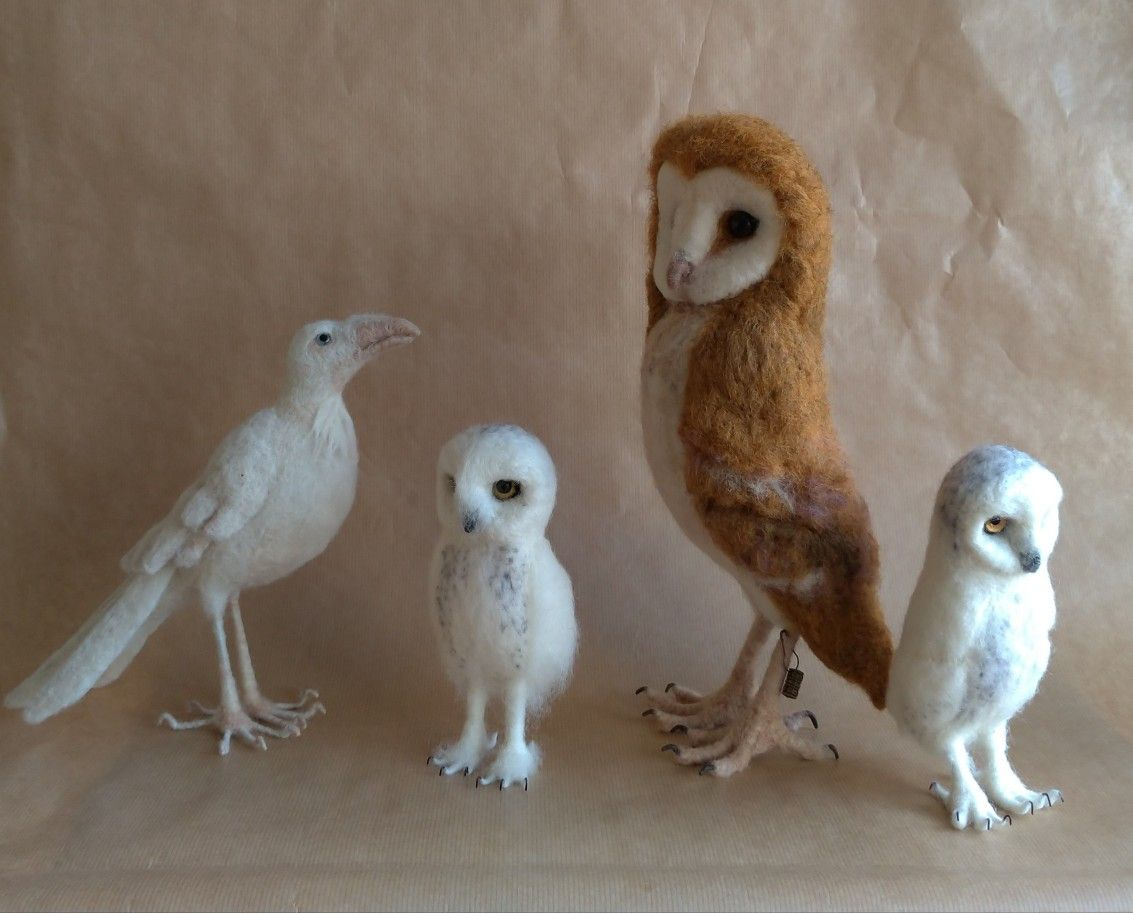Needlefelting 2019 Pet birds, Needlefelted