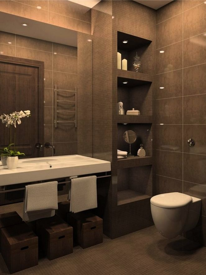 The One Thing to Do for Bathroom Remodel Brown 40 The One Thing to Do for Bathroom Remodel Brown  36 Inspirational Small Bathroom Remodel  Skyros Delft Blue Wall and Floo...