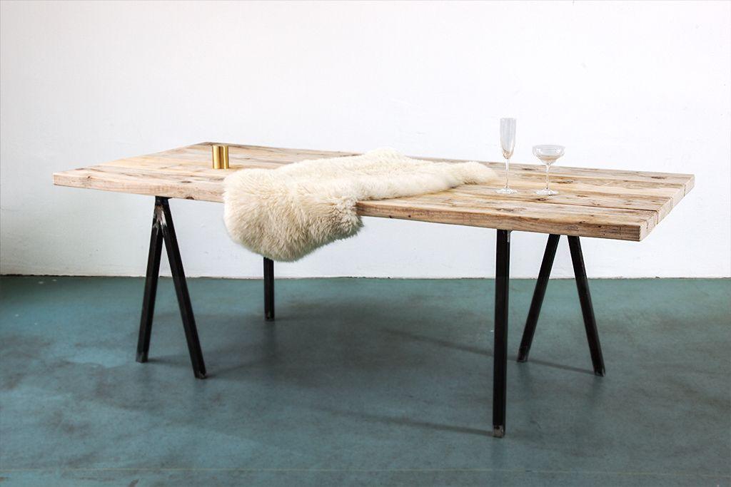 Bauholz Tisch E Tisch Esstisch Tisch Und Bauen Mit Holz