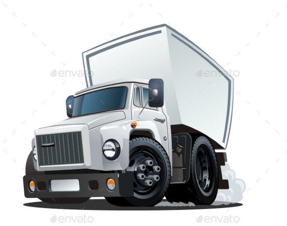 Cartoon Delivery Or Cargo Truck Con Imagenes Arte Grafico