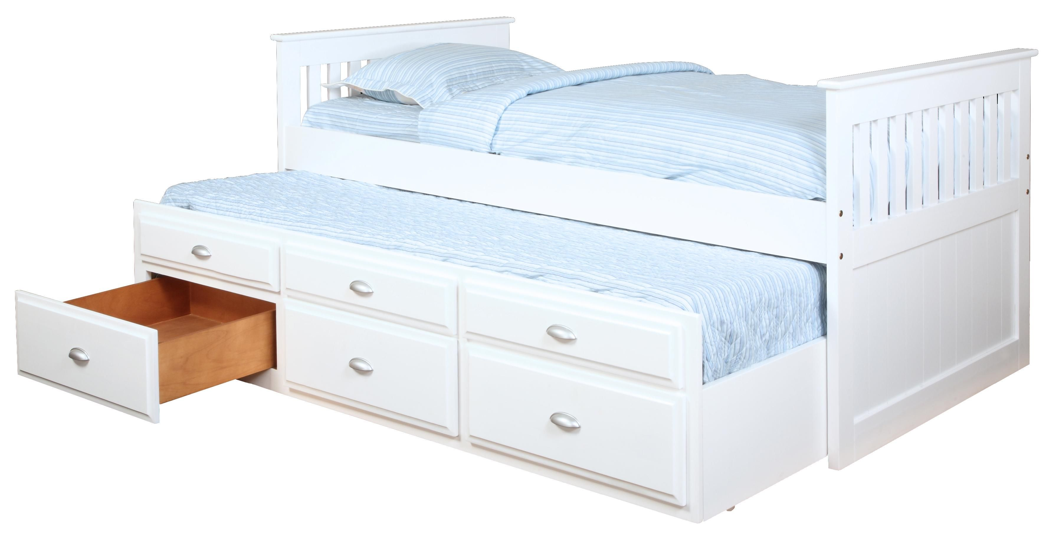 Logan Captain's Bed with Trundle and Storage by Bernards