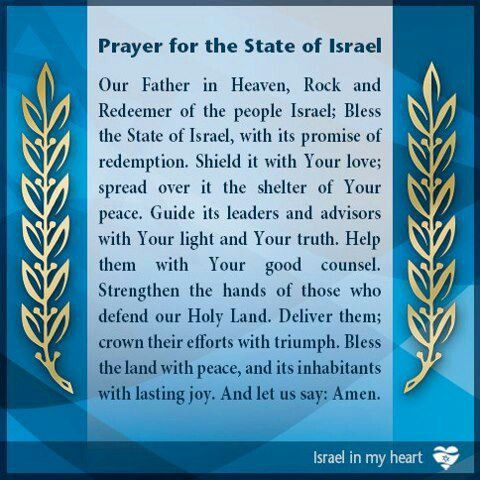 Prayer for Israel.  Psalms 122:6 Pray for the peace of Jerusalem, they shall prosper that love thee.