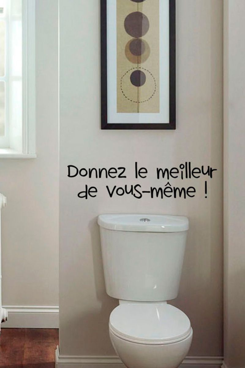 Vente Stickers 24345 Lettrage Cuisine Et Toilettes Sticker