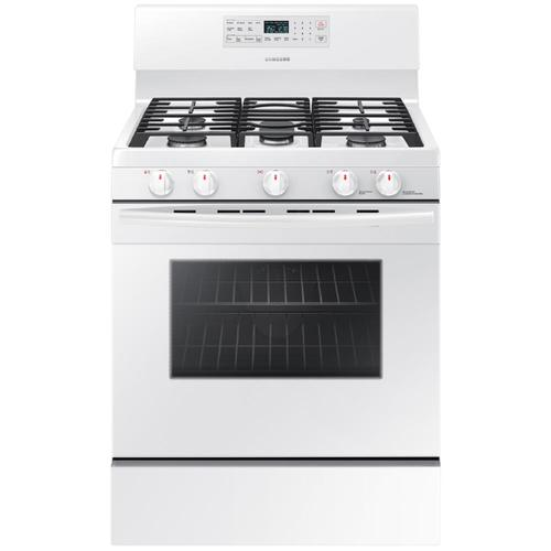 Samsung 5 Burners 5 8 Cu Ft Self Cleaning Convection Freestanding Gas Range White Common 30 In Actual 29 75 In Lowes Com Gas Range Convection Range Convection