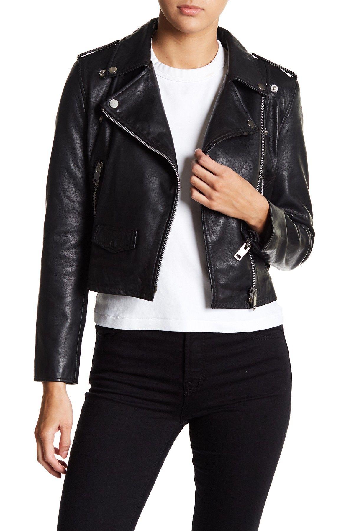Walter Baker Liz Leather Moto Jacket Nordstrom Rack in