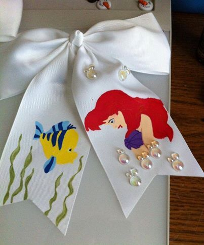 Another Custom Ariel bow I have made https://www.facebook.com/pages/Elphabelles-Enchanted-Trinkets/1417792081782148