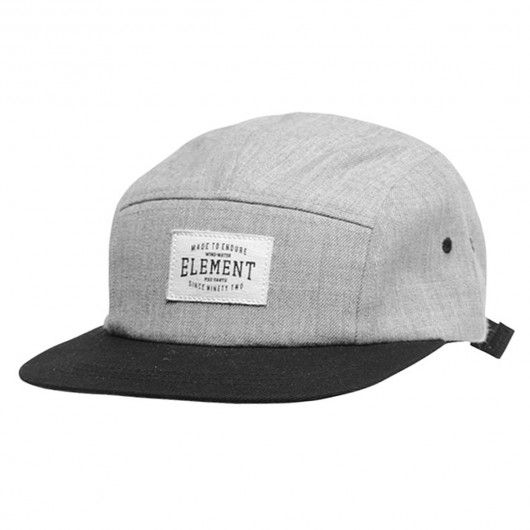 e5db7847900 Element Palladium 5-Panel heather grey casquette five panel cap ...