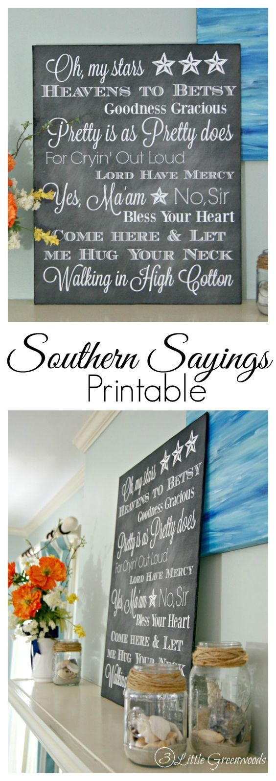 Southern sayings printable southern expressions for Home craft expressions decor