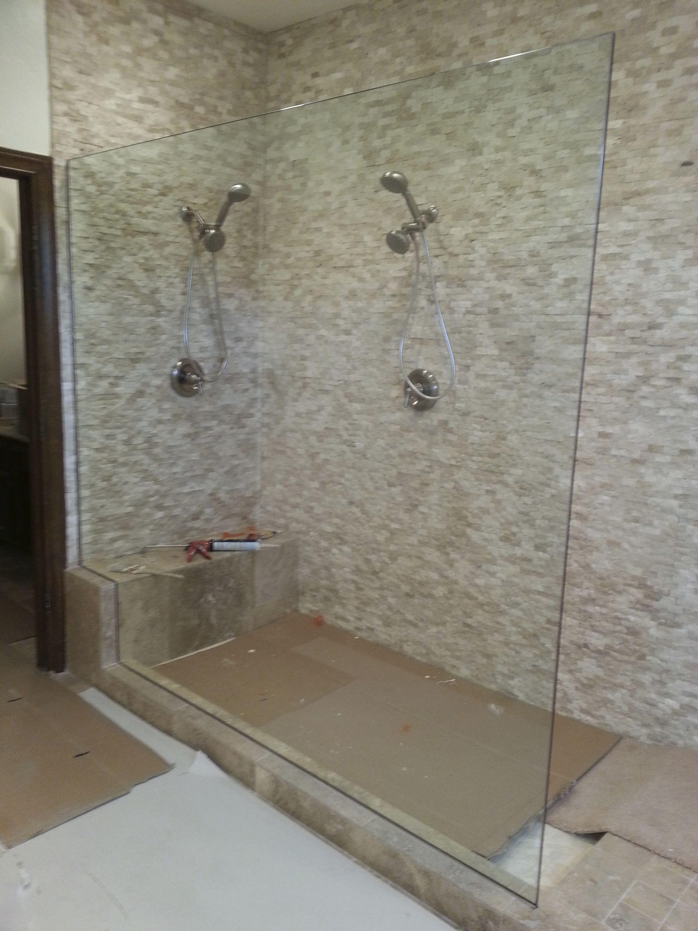 frameless glass 1/2 panel