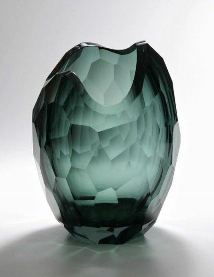 deko vase aus Glas in Grün spirella - Glas Serie 2019 Pinterest