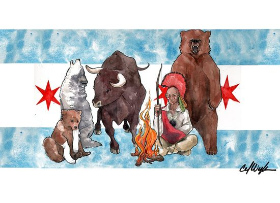 Chicago Sports Teams Flag Art Print By Carlations Carla Wyzgala Illustrations Chicago Sports Art Chicago Sports Teams Chicago Sports