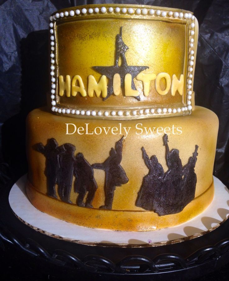 Alexander Hamilton Cake Top