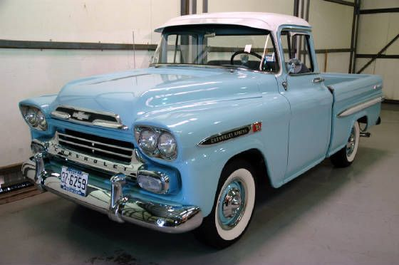 1959 Chevy Apache Bless The Man For Keeping The Stock Rims
