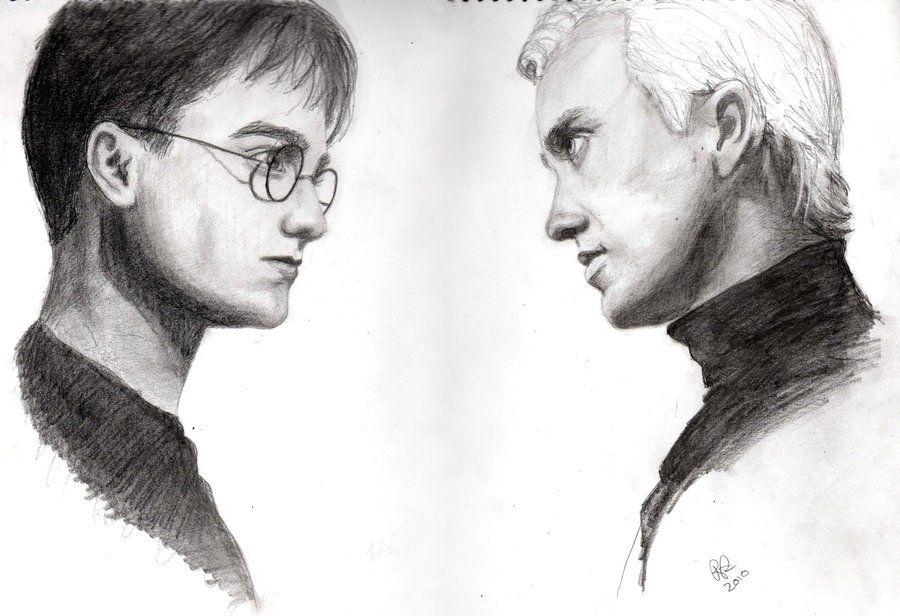 Harry Potter Vs Draco Malfoy Harry Potter Drawings Harry Potter Draco Malfoy Draco Malfoy Fanart