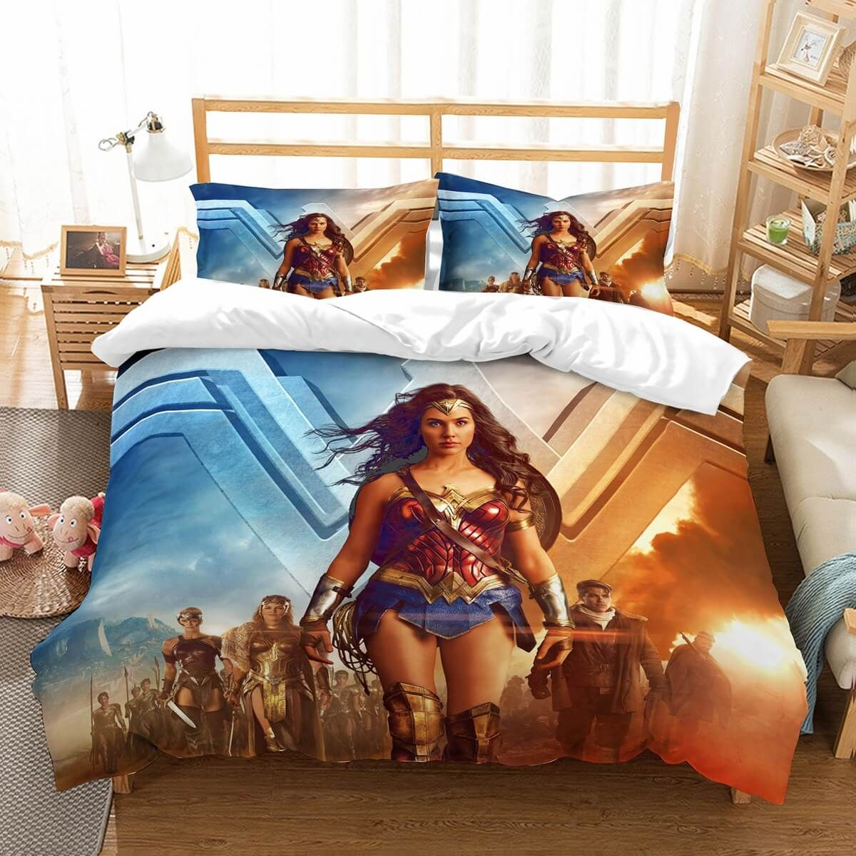 3D Customize Wonder Woman Bedding Set Duvet Cover Set
