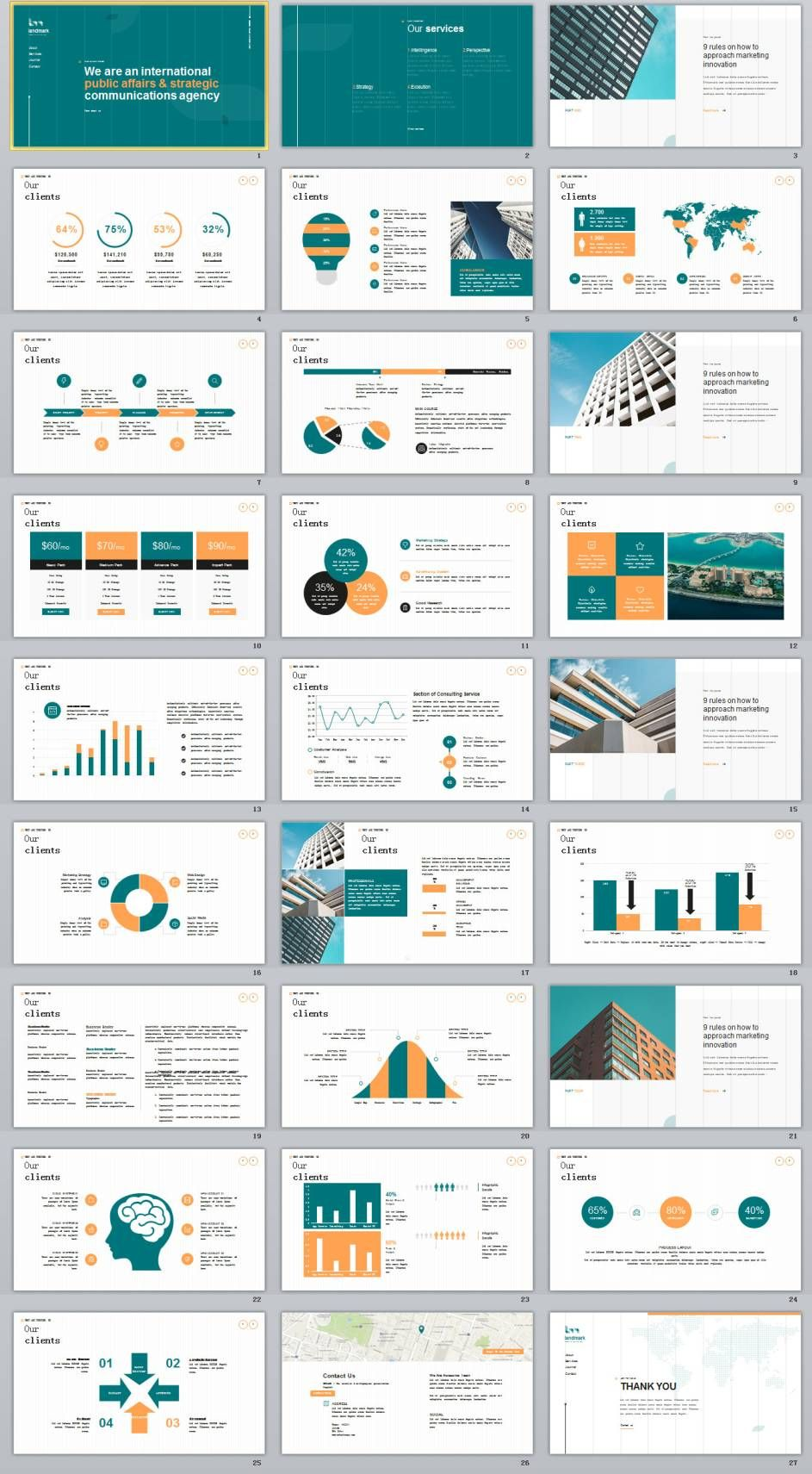 27 company cool introduction chart powerpoint template ppt design