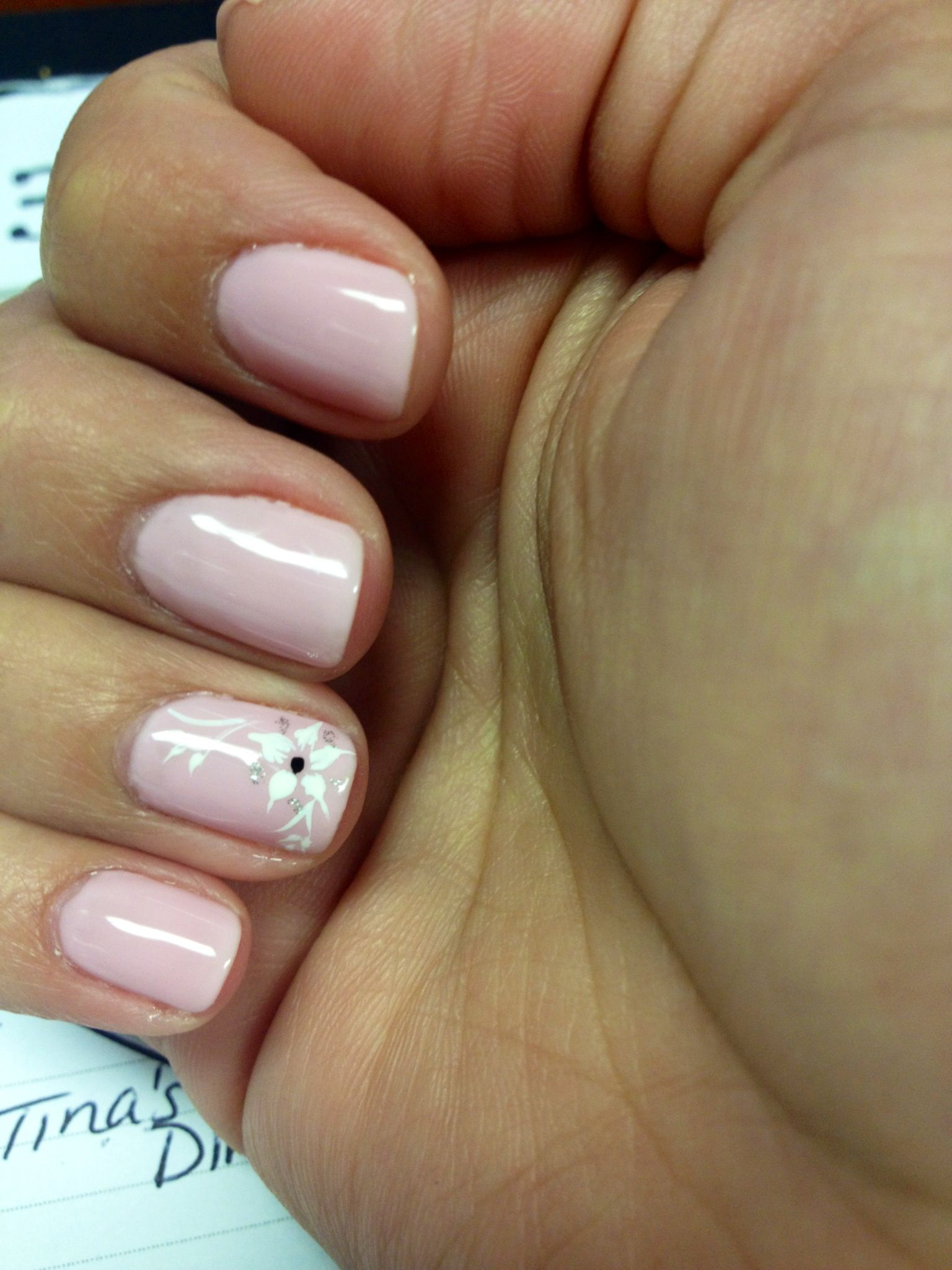Nice & Simple Pink Shellac Nails