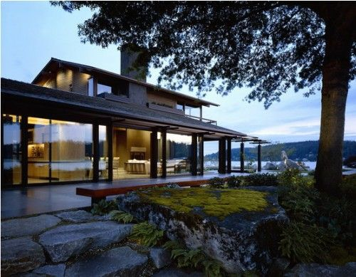 Washington Courtyard House By Roland Terry Modern Lake House Courtyard House Architecture