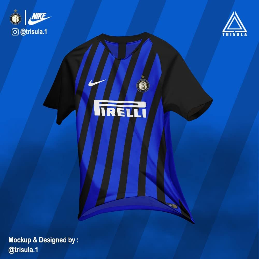 competitive price 63f9d 2c450 Inter Milan - home kit concept | Football shirts | Football ...
