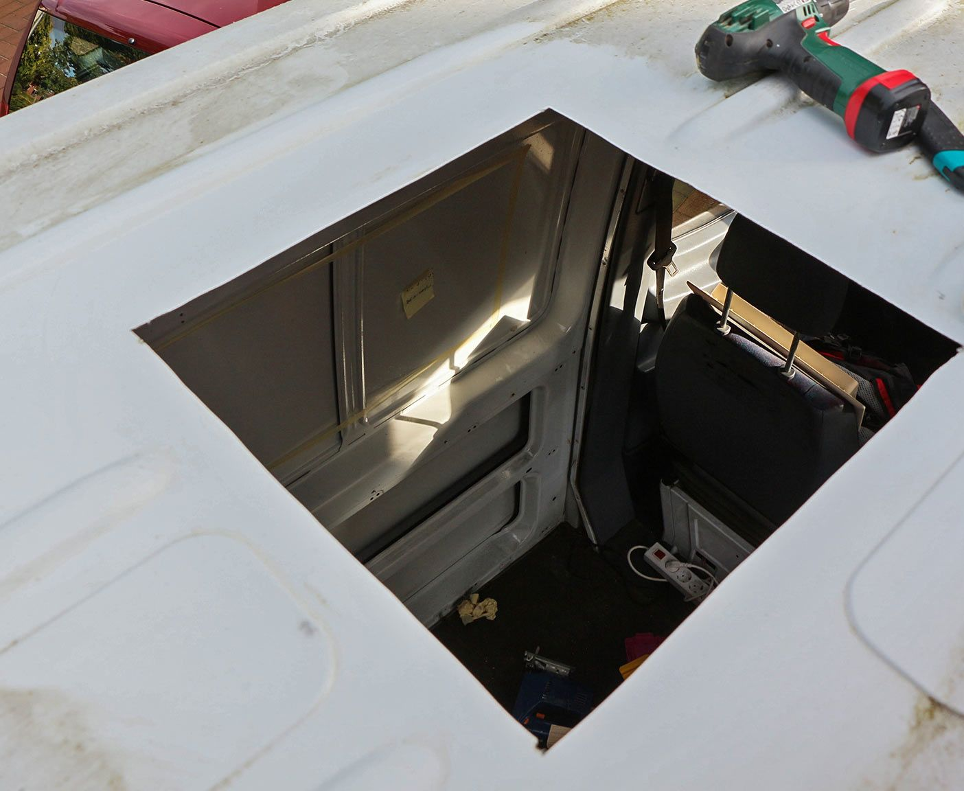 Wohnmobil Dachluke Dachfenster Selber Einbauen Dachluke