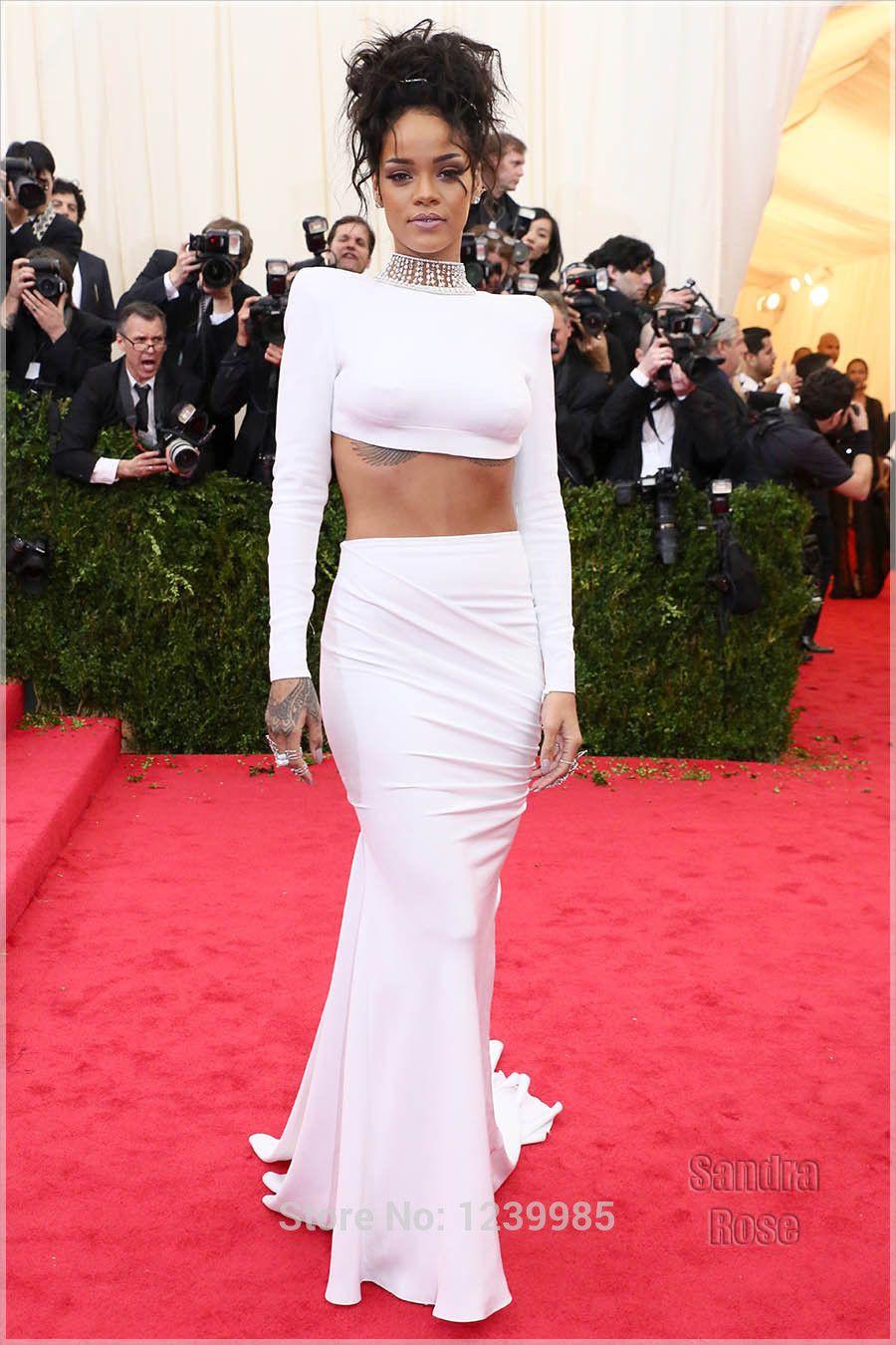 rihanna white dress - Pesquisa Google | Платья