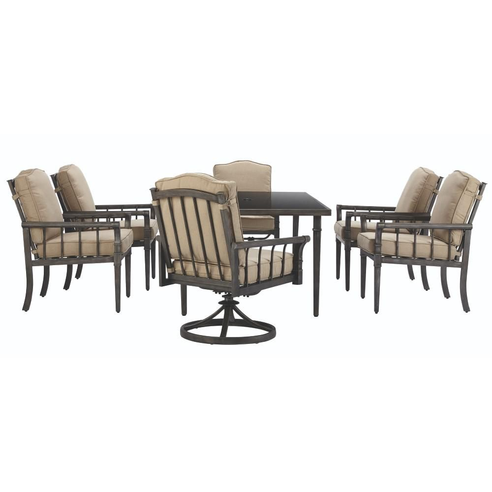 Awesome Home Decorators Collection Chesterfield Park 7 Piece Metal Outdoor Dining  Set With Cushion