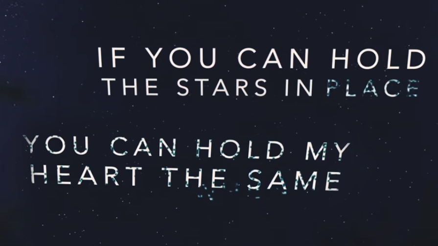 ...Whenever I fall away  Whenever I start to break  So here I am, lifting up my heart  To the one who holds the stars
