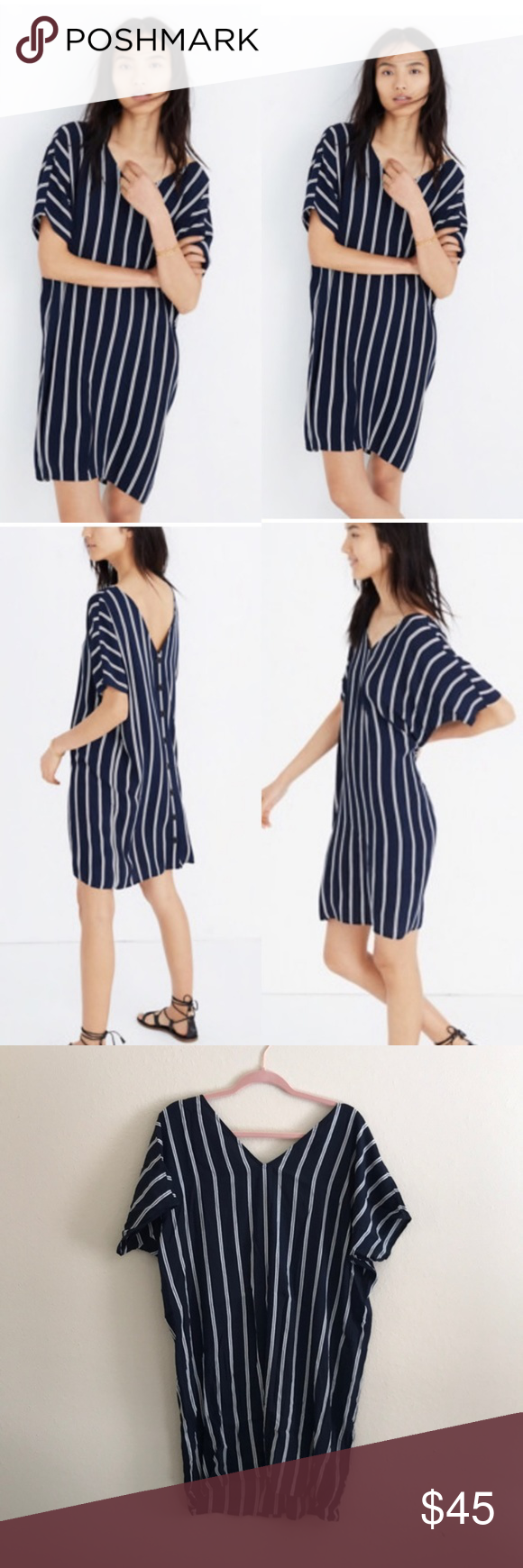 e9c04f79d Madewell Striped Plaza Dress M Lightly worn Madewell Striped Plaza dress –  great for springtime outings