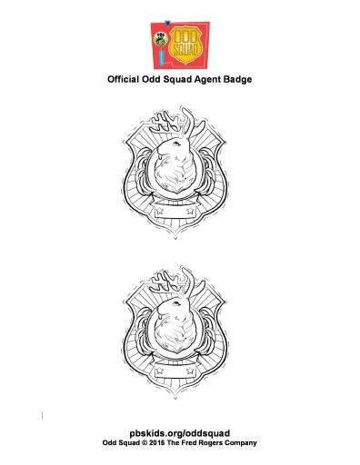 image about Odd Squad Badge Printable referred to as Peculiar Squad badges Birthday Occasion Tips Strange squad dress