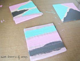 Sweet dreams of scrap: Reto de Enero de Up&Scrap. Oro parece,plata no es: Posa-vasos