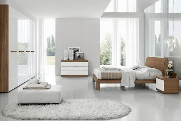chambre moderne blanche | chambre à coucher design | chambre à coucher