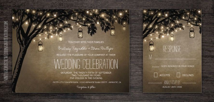 Mason Jar Wedding Invitations Page 2