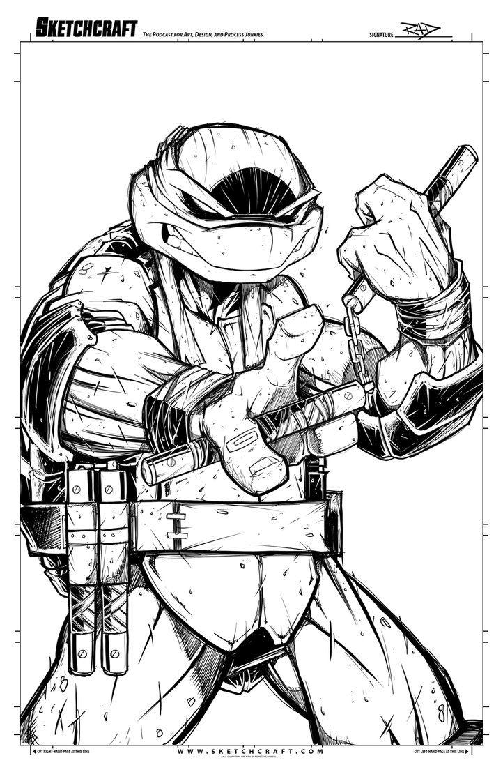 Michelangelo Digi Inks Drawn in PS CS5 - 2hr 11x17 SketchCraft - The